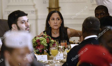 Actress Sakina Jaffrey, who played Linda Vasquez, the Chief Of Staff in the Netflix series 'House of Cards' attends an Iftar dinner celebrating Ramadan