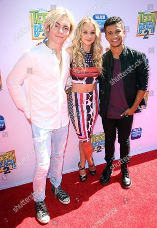 Stock Picture of Mollee Gray and Ross Lynch with Raymond Cham Jr.