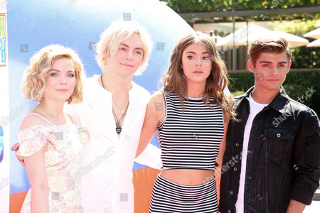 Stock Photo of Grace Phipps, Ross Lynch, Maia Mitchell and Garrett Clayton