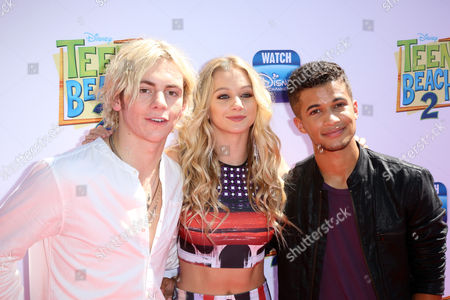 Mollee Gray and Ross Lynch with Raymond Cham Jr.