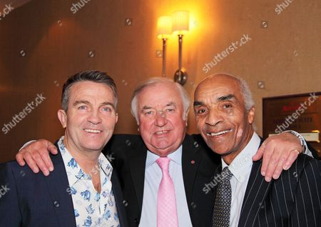 Bradley Walsh, Jimmy Tarbuck OBE and Kenny Lynch OBE