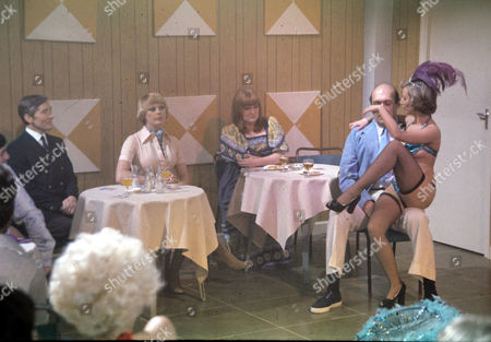 Kenneth Williams, Elke Sommer, Patsy Rowland, Bernard Bresslaw and Jenny Cox
