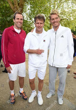 Greg Rusedski, Andrew Castle and Thomas Enqvist