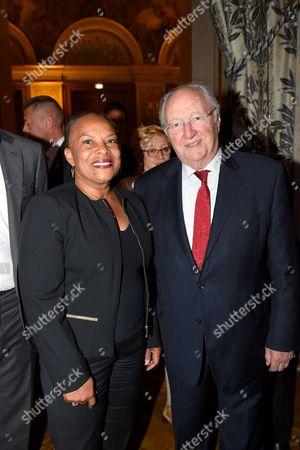Christiane Taubira and Roger Cukierman