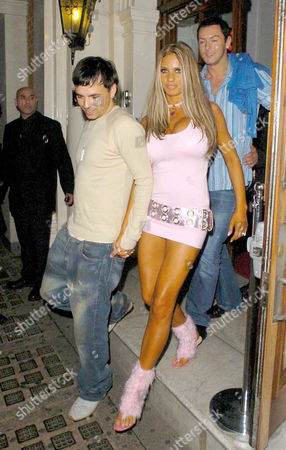 Stock Image of ANDY SCOTT LEE LEAVING WITH KATIE PRICE. PETER ANDRE LEFT WITH MICHELLE HEATON, THEY HAD ALL BEEN OUT TOGETHER