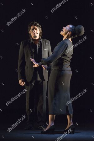 Stock Picture of Singers Jose Angel Carmona and Vimala Rowe in Martinete
