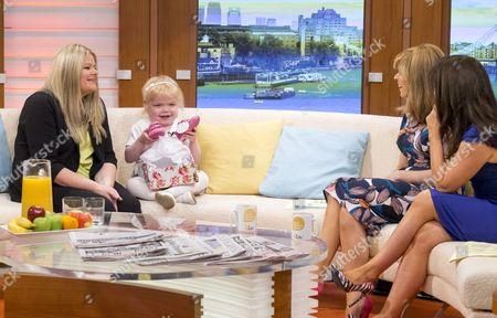 Karen Hughes and daughter Ella Chadwick with Kate Garraway and Susanna Reid