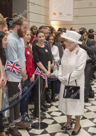 Queen Elizabeth II and Prince Philip attended the 50th anniversary of the Queens Lecture at Berlin's University of Technology, which was delivered by Neil MacGregor She later watched a concert and robots in action with Chancellor Angela Merkel and President Gauck