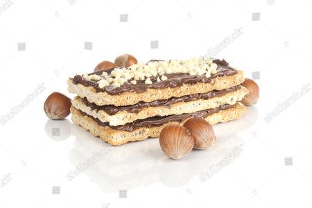 Nougat slice with hazelnuts