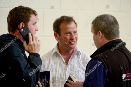 Tattersalls Sales. Agent KEVIN ROSS with Jason Maguire (left) and Gordon Elliott (right).