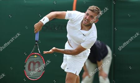Great Britain's Daniel Evans beats Matthias Bachinger from Germany in 3 sets