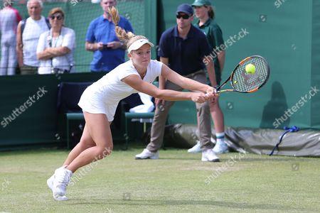 Editorial image of Wimbledon Championships 2015 Qualifying Wednesday Qualifying Bank of England Sports Centre, Priory Ln, London, United Kingdom - 24 Jun 2015