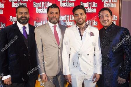 Tony Jayawardena (Mr Bhamra), Irvine Iqbal (Uncle), Raj Bajaj (Teetu) and Rakesh Boury (Footballers)