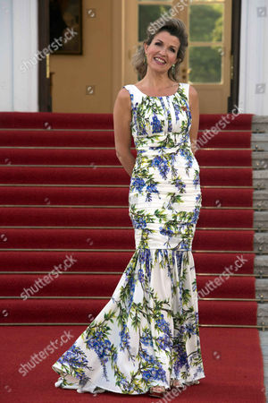 Anne Sophie Mutter attends the State Banquet at the Bellevue Palace in Berlin