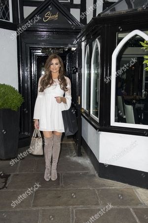 TOWIE member Jessica Wright attends Ann Summers party with competition winner Nicky Downs.