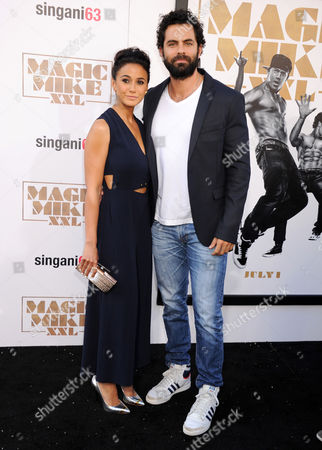Emmanuelle Chriqui and Adrian Bellani
