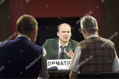 Richard Cant as Assistant, Rory Kinnear as Josef K, Sarah Crowden as Information Officer