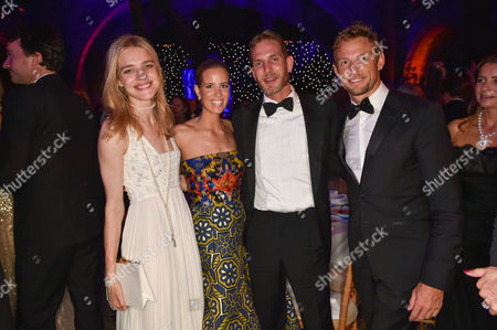 Natalia Vodianova, Founder of Walkabout Foundation Carolina Gonzalez-Bunster, Andrea Casiraghi and Jenson Button