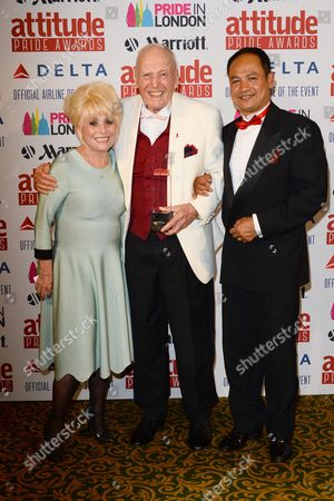 Stock Picture of Barbara Windsor, George Montague and Pukkhlai Somchai