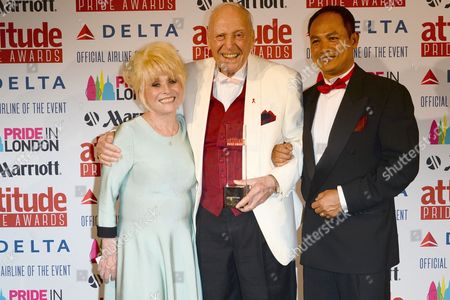 Stock Image of Barbara Windsor, George Montague and Pukkhlai Somchai
