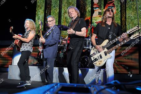 """Tommy Shaw, Chuck Panozzo, James """"J.Y."""" Young, Ricky Phillips"""