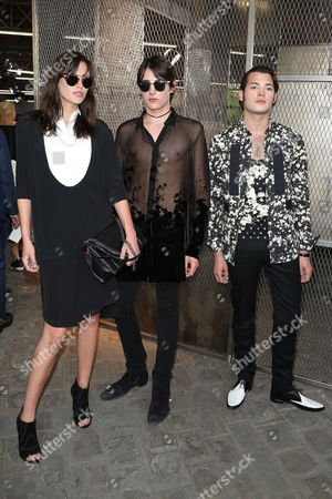 Catherine McNeil, Peter Brant and Harry Brant