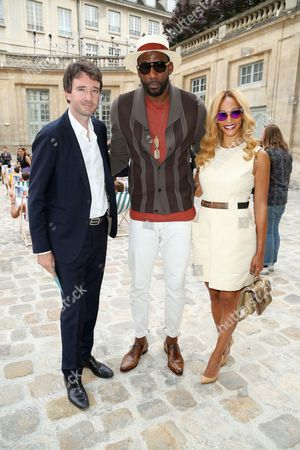 General manager of Berluti Antoine Arnault, Basketball player, Amar'e Stoudemire and his wife Alexis Welch