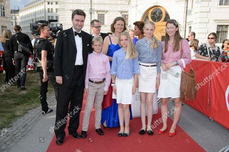 Georg von Habsburg and family