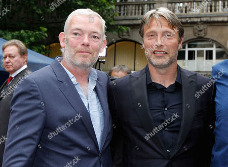 Stock Picture of Soren Malling, Mads Mikkelsen at the 'Men & Chicken' premiere