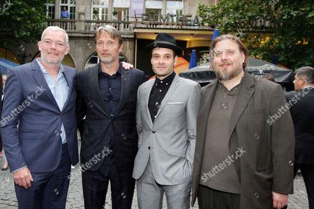 Soren Malling, Mads Mikkelsen, David Dencik, Nicolas Bro at the 'Men & Chicken' premiere