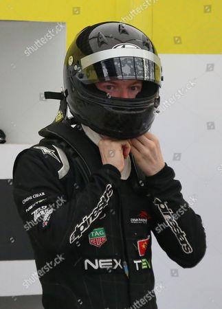 Oliver Turvey getting prepared during the FIA Formula E Visa London ePrix at Battersea Park, London