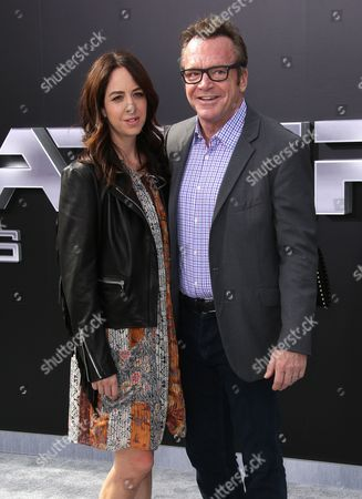 Stock Picture of Ashley Groussman and Tom Arnold