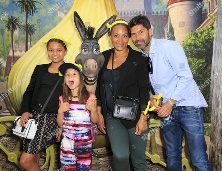 Angela Griffin and Jason Milligan with daughters Melissa and Tallulah