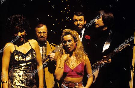 Maxine Barrie [Shirley Bassey] Michael Bostock [Roger Whittaker] Kelly Hampson [Kylie Minogue] Ian Duncan [Frank Sinatra] and Gary Gibson [John Lennon]