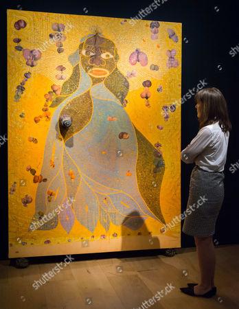 Chris Ofili, The Holy Virgin Mary - Est: £1,400,000-1,800,000