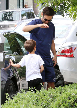 Tobey Maguire and son Otis Maguire