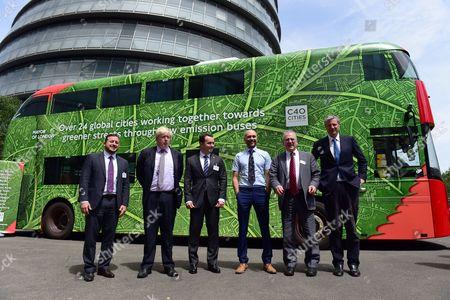 Mayor of Oslo Stian Berger Rosland, Boris Johnson, Sir Peter Hendy, Zac Goldsmith, Isabel Dedring, Deputy Mayor of Warsaw, Advisor to Mayor of Rio De Janeiro
