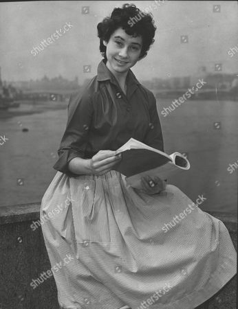 Actress Carole Ann Ford Cast As Lilly In Play 'women Of The Streets' Studies Her Script. Box 0591 22062015 00352a.jpg.