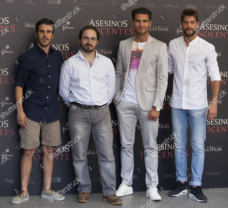 Stock Photo of Javier Hernandez, Gonzalo Bendala, Maxi Iglesias, Luis Fernandez