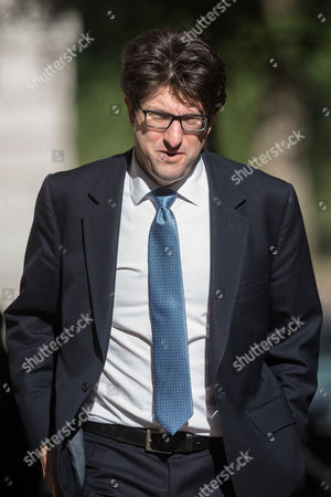 Lord Andrew Feldman arrives at 10 Downing Street for a Cabinet meeting.