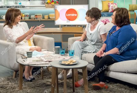Lorraine Kelly with Pauline McLynn and Sally Bankes