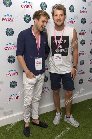 Sam Thompson and Stevie Johnson take part in #wimbledonwatch for evian