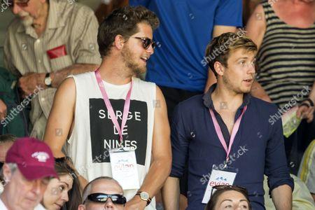 Stevie Johnson and Sam Thompson at Wimbledon 2015 courtesy of Evian