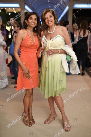 Stock Photo of Divia Cadbury (nee Lalvani) and Vimla  Lalvani