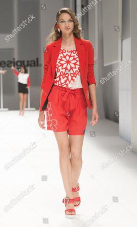 Stock Image of Anastasija Titko on catwalk