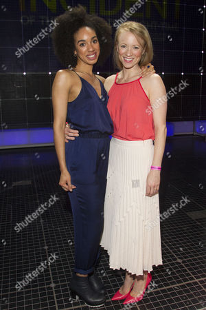 Pearl Mackie (No 40/Punk Girl) and Mary Stockley (Judy) backstage after the curtain call