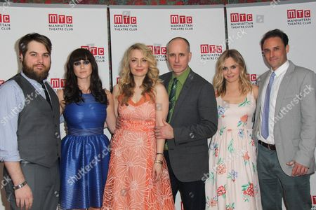 Nate Miller, Heather Lind, Playwright Melissa Ross, Director Lynne Meadow, Jennifer Mudge, Kelly AuCoin, Alicia Silverstone, Greg Keller