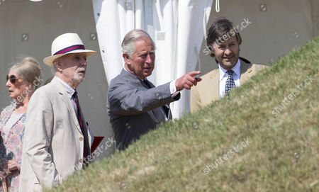 Stock Image of Ronin Walton,fonder of the COPP memorial. Prince Charles and Timothy Knatchbull