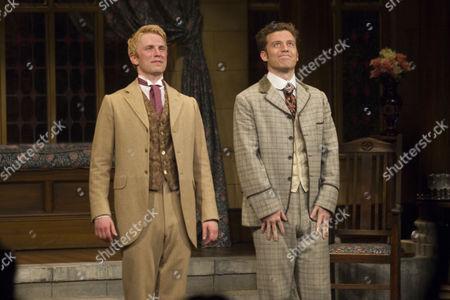 Michael Benz (Jack Worthing) and Philip Cumbus (Algernon Moncrieff)