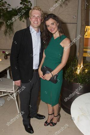 Michael Benz (Jack Worthing) and Emily Barber (Gwendolen Fairfax)